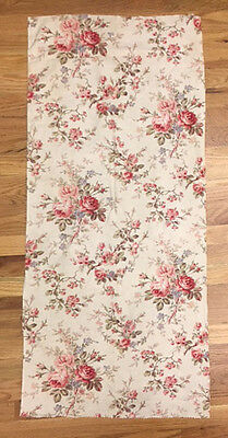 Antique Beautiful 19th C. French Floral Printed  Cotton Fabric  (2024)
