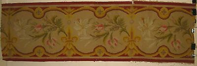 Antique Beautiful 19th C. French Wool Needlepoint for Aubusson (9211)