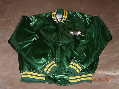 check out 87f35 6a5b1 VINTAGE CHALK LINE Green Bay Packers Throwback Satin Jacket (sz. Large)