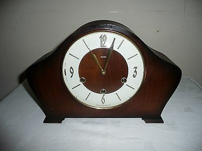 Smiths, Westminster Chimes Mantle Clock ,Floating Balance, Needs Attention. Vgc