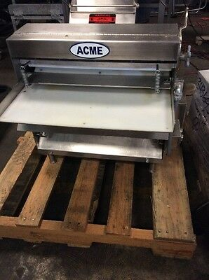 Acme Pizza Dough Roller Sheeter Mrs-20 Stainless Steel Double Pass 3-20 Rollers