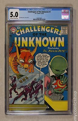 Challengers of the Unknown (1958 DC 1st Series) #1 CGC 5.0 1465414001