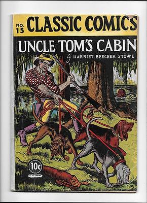 "Classic Comics #15 Hrn 14 [1943 Gd-Vg] 1St Edition! ""uncle Tom's Cabin"""