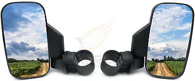 "Mirror Set UTV Side View High Impact Break Away Convex 1 5/8"" - 2"" Roll Cage"
