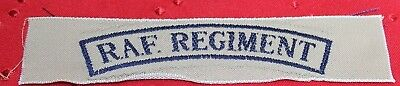WWII British Rayon RAF Regiment Patch Badge 5in L  X 1in W each P4301