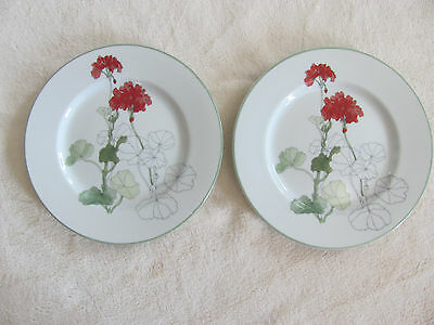 Block Spal Portugal Watercolors-Goertzen-Geranium-Set of 2 Bread & Butter Plates