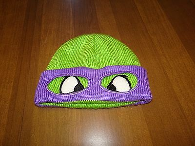 "Unbranded One Size Fits All TMNT ""Donatello"" Green & Purple Toboggan Cap"