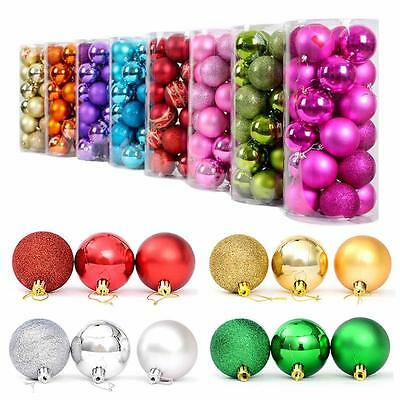 24pcs Christmas Tree Xmas Balls Decorations Baubles Parties Wedding Ornament#BO