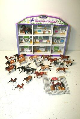 Large Lot Of Breyer Stablemates W/ Horse Crazy Display, Incl. Foals & Appaloosa