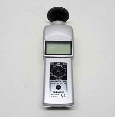 SHIMPO DT-105A Contact Style Digital Handheld Tachometer, LCD 6/L22918A