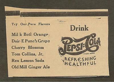 Vintage Ad Clipped From Newspaper - Pepsi-Cola  -1939
