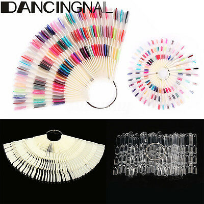 50/100PC False Display Nail Art Fan Polish Practice Starter Color Pop Tip Sticks