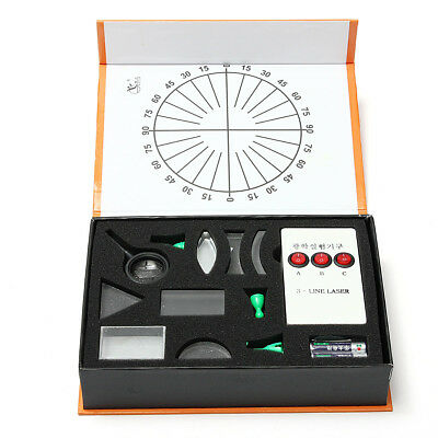 Physical Science Optical Experiments KIT Triangular Prism Convex Lens Physics