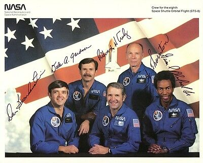 SPACE SHUTTLE MISSION STS-8 Signed Original NASA Photo - Autopen