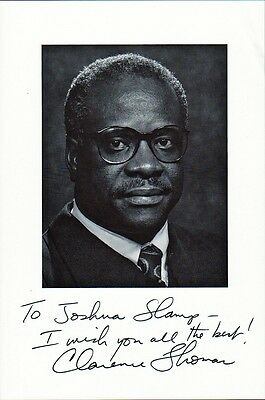 Supreme Court Justice CLARENCE THOMAS Signed Photo