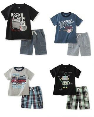 New Kids Headquarters Boys 2-Pc Cotton T-Shirt & Shorts Set Size 3T, 4T, 5, 6, 7