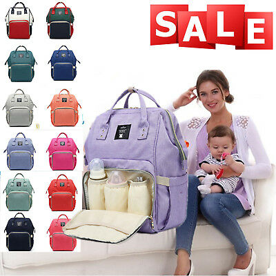 Large Capacity Mummy Travel Backpack Waterproof Baby Nappy Diaper Changing Bag