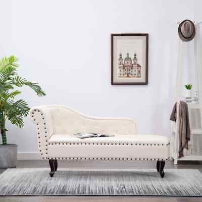 vidaXL CHAISE LONGUE CHESTERFIELD POLTRONA CHESTERFIELD CREMA