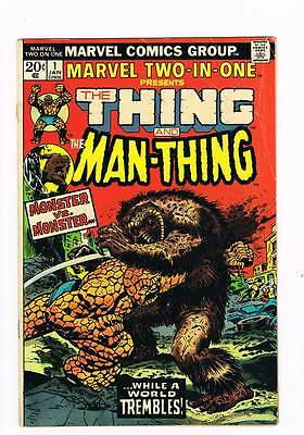 Marvel Two in One # 1  While a World Trembles  !  grade 4.0 scarce book !!