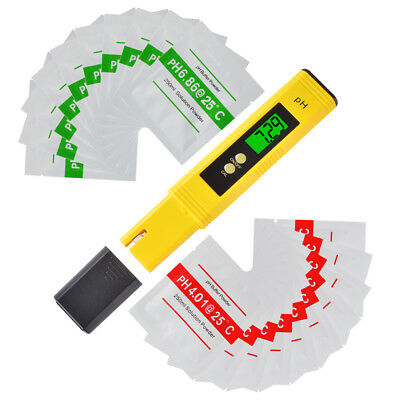 4-Digit LCD Display PH Meter Pen Portable Hydroponics Aquarium Pool Water Tester