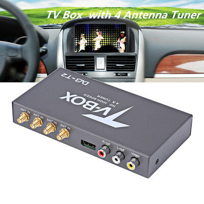 Car TV Receiver Box DVB-T2 H.264 High Speed 4 Antenna Remote Control HDMI 1080P