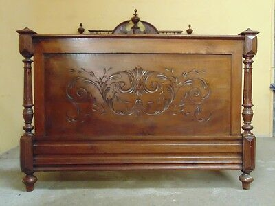 Carved Double  bed in the Henri II  style C1880