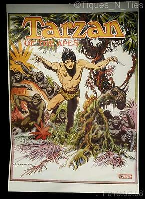 Vintage 1972 Tarzan of the Apes Book Poster Hogarth Edgar Rice Burroughs (HH)