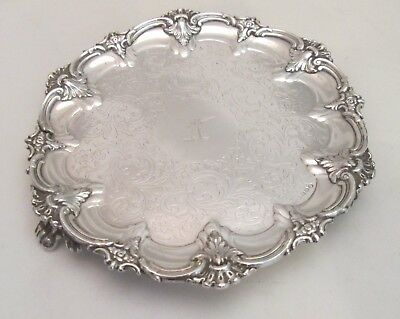 A Fine 19th Century Silver Plated Tray by Evans - Crested with Sword - Irish