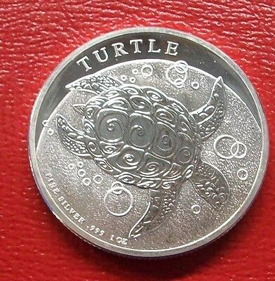 2014 New Zealand 2 Dollar NIUE  Hawksbill Turtle 1 oz 999 Fine Silver Coin  NEW