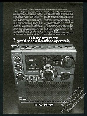 1977 Sony ICF-5900W FM AM short wave CB radio photo vintage print ad