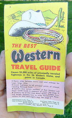 1958 Best Western Glove Box Western States Travel Guide 107 Pages