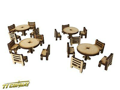 TTCombat - RPG010 - Tables and Chairs Set, Dungeons Role Playing Dragons