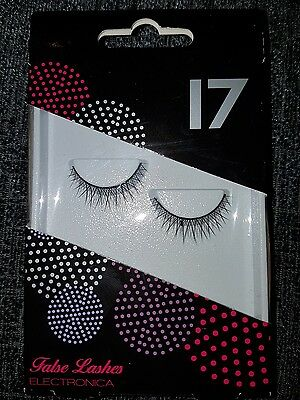 NEW Electronica False Eye Lashes, 17, Boots, with glue
