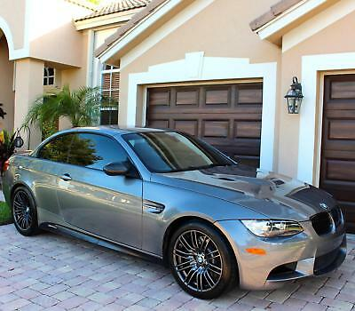 2013 BMW M3 LEATHER 2013 BMW M3 TWO DOOR CONVERTIBLE DSG AUTO LOW MILES GRAY RED LEATHER Clean