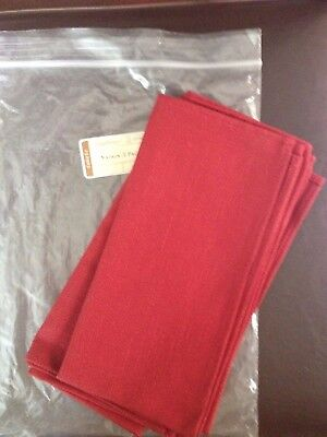 Longaberger Set of 2 Paprika Napkins - MINT, Free Ship