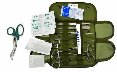 20 pcs Matching EMT Shears, Tactical Green First Aid Tactical Kit Military Moll