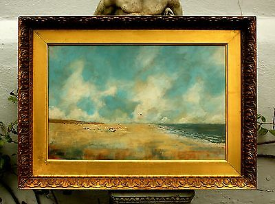 Fine Early C20th English Post Impressionist School Oil on Board - Kite Flying