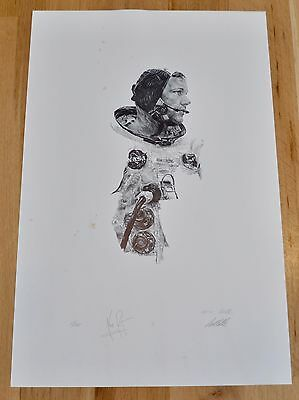 Neil Armstrong Signed Limited Edition Paul Calle Print, #68/1000
