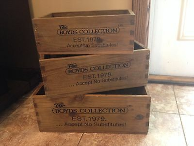 Boyd's Bears Set of 3 Wooden Boxes - Gettysburg, Great Condition