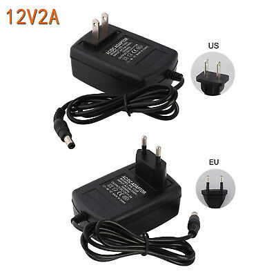 AC 110V - 240V To DC 12V 2A LED Power Supply Adapter EU US Plug For LED Strip
