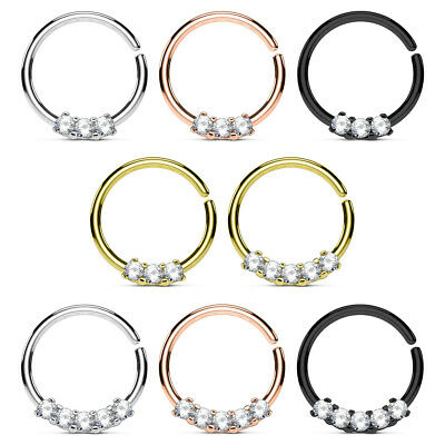 septum ring piercing crystal Nose Ring Nose Piercing Tragus Helix Daith Earring