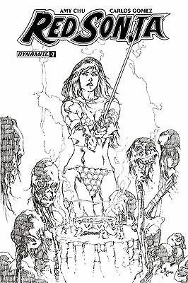 Red Sonja #7 1:30 Cover H Mel Rubi Variant Comic Book Dynamite First Print NM