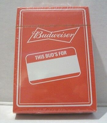 Beer Budweiser This Buds For You Promo Deck Of Playing Cards Factory Sealed