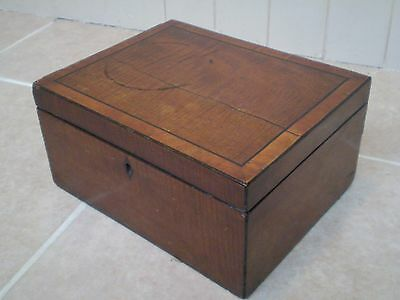 Antique Wooden Box, Would Make An Ideal Jewellery Box