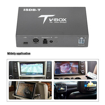 High Speed Car Auto Mobile Digital TV Video ISDB-T Tuner Receiver Box + Antenna