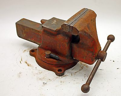 """Reed No. 25 Combination Utility Vise w/ Swivel Base 5"""" Jaws and Pipe Jaws"""