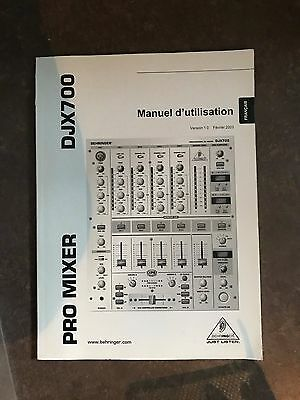 Behringer Djx700 Pro Mixer Manual Only