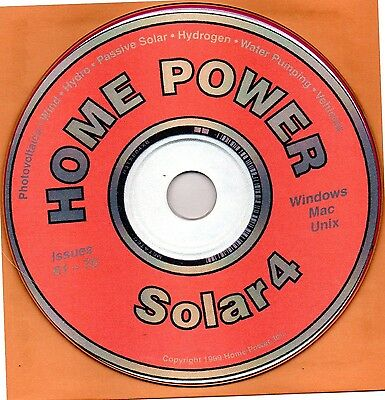 Home Power SOLAR 4 , 7 issues from 1997 to 1998, magazines on CD-ROM