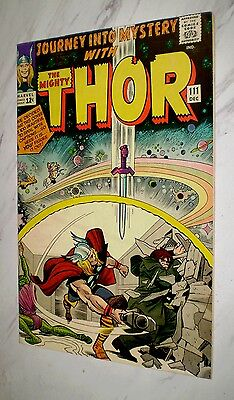 Journey Into Mystery #111 VF/NM 9.0 OW pages Unrestored 1964 Marvel Thor