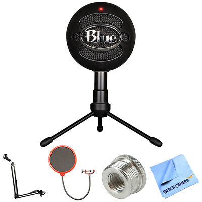 BLUE MICROPHONES Snowball iCE Versatile USB Microphone w/ Accessories Bundle